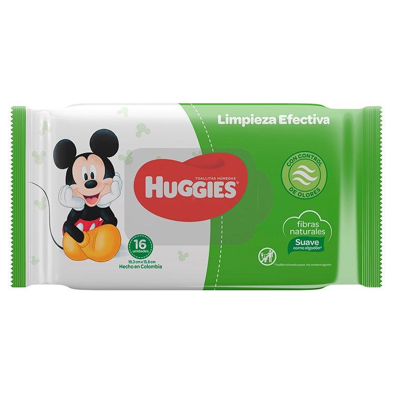 Pañitos húmedos Huggies Limpieza Efectivax16