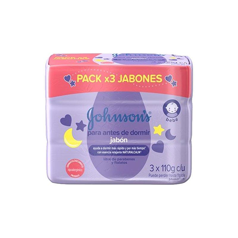 Jabon Jhonsons Baby para antes de dormir 3x1 110gr