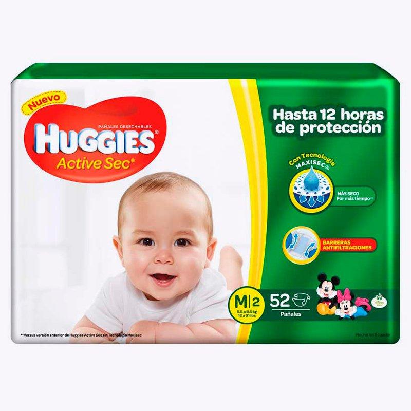 Huggies Active Sec M x 52