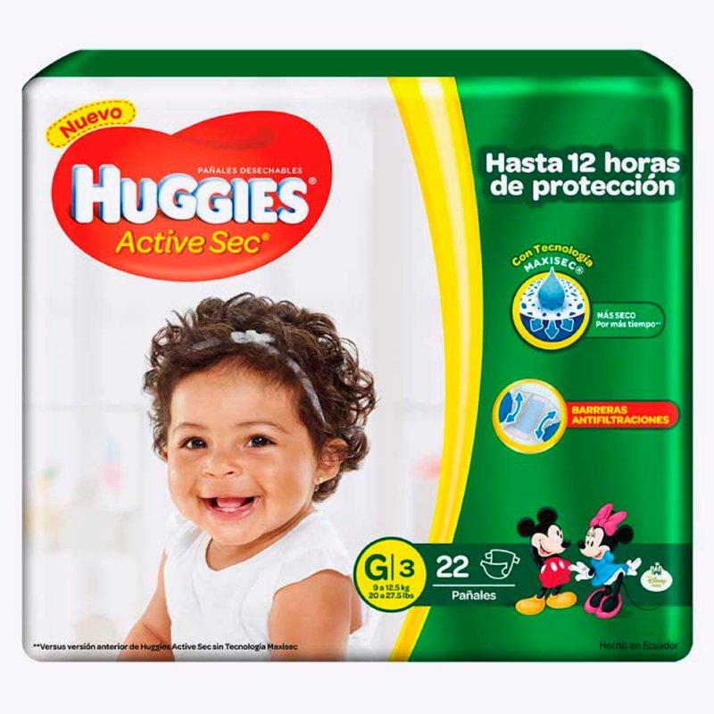 Huggies Active Sec G x 22
