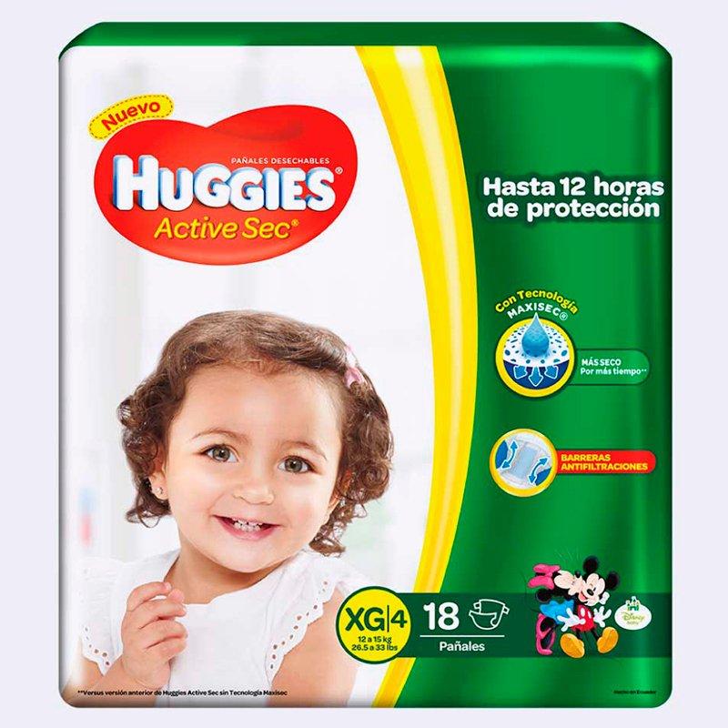 Huggies Active Sec XG x 18