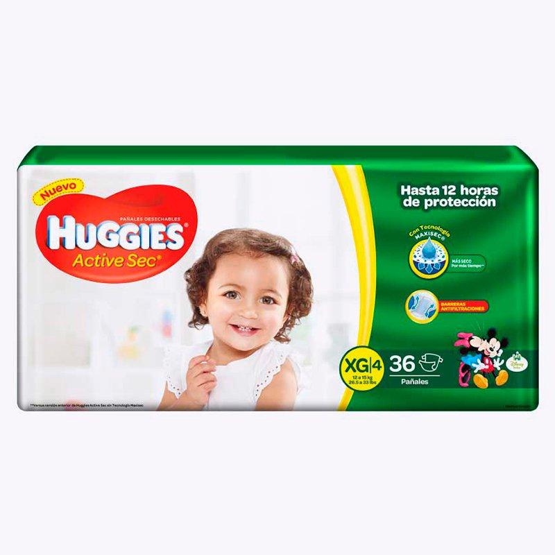 Huggies Active Sec XG x 36