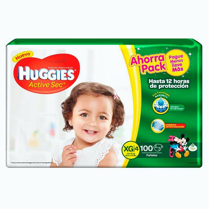 Huggies Active Sec XG x 100