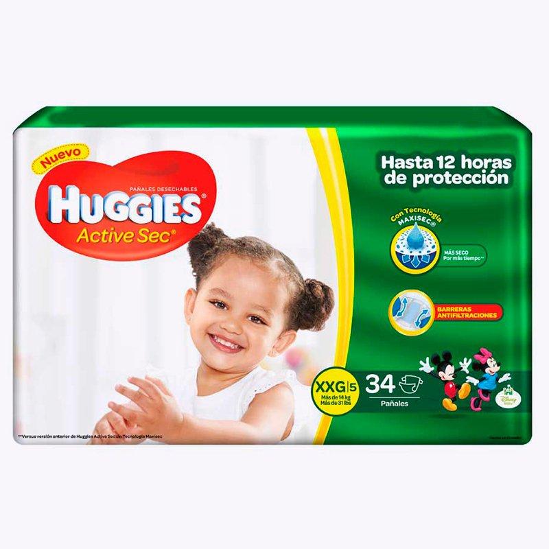 Huggies Active Sec XXG x 34