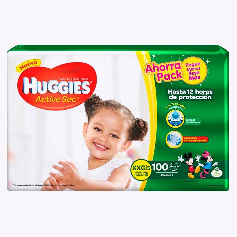 Huggies Active Sec XXG x 100