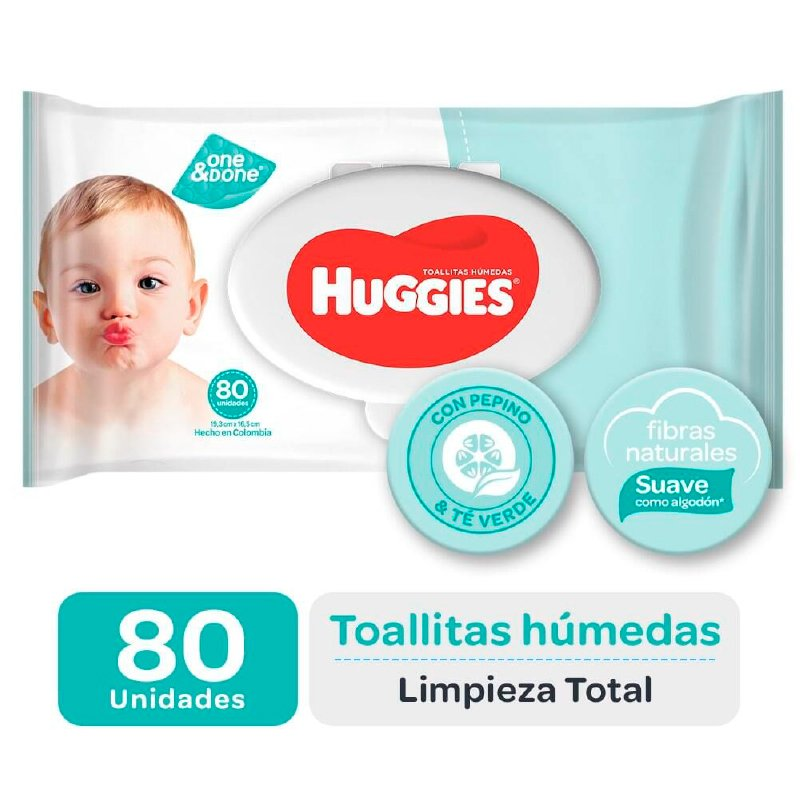 Huggies Toallitas Húmedas One Done x 80