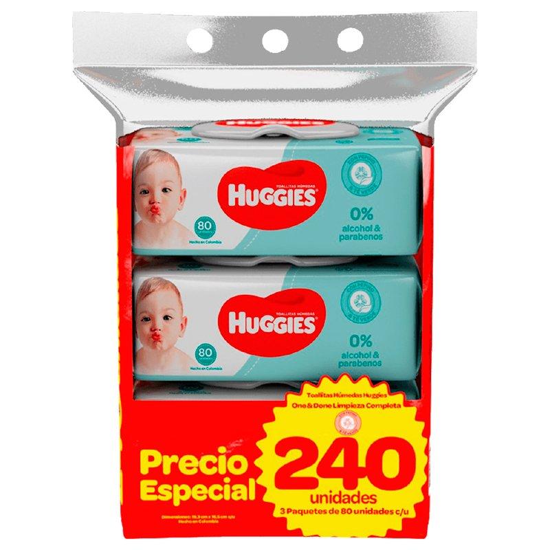 Huggies Toallitas Húmedas One Done x 240