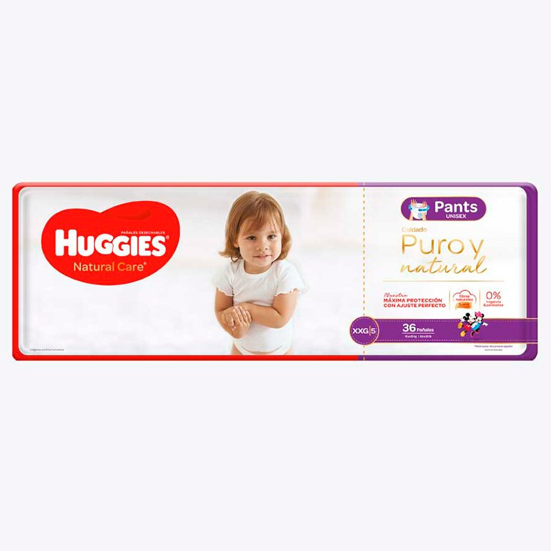 Huggies Natural Care Pants XXG X 36