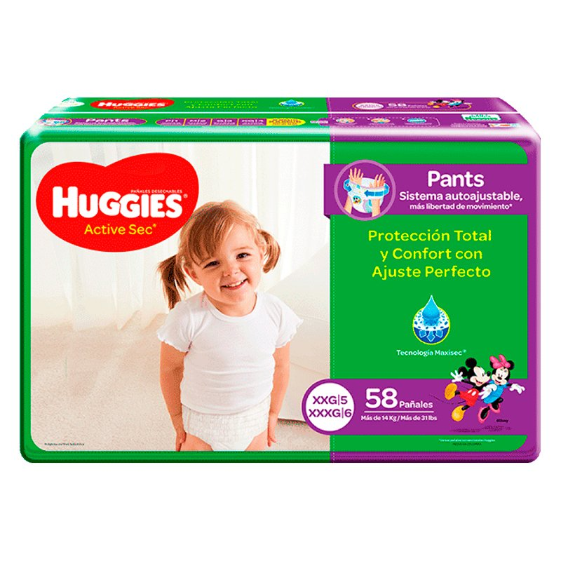 Huggies Active Sec Pants XXG X 58