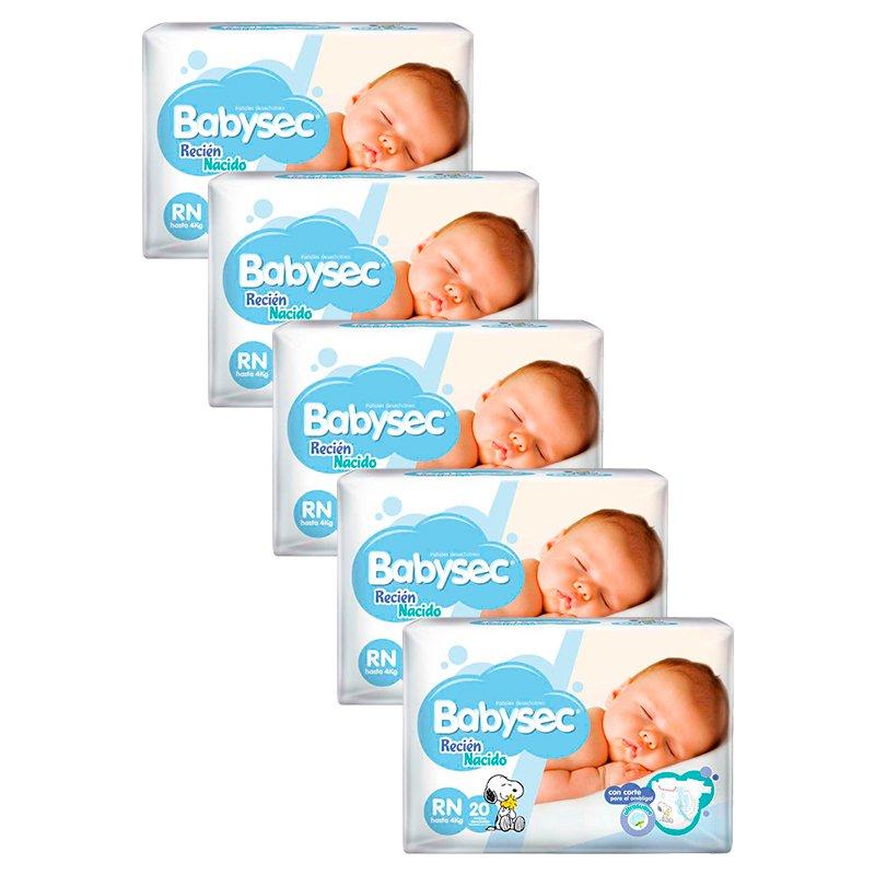 Babysec Recién Nacido QuintuPack X 100
