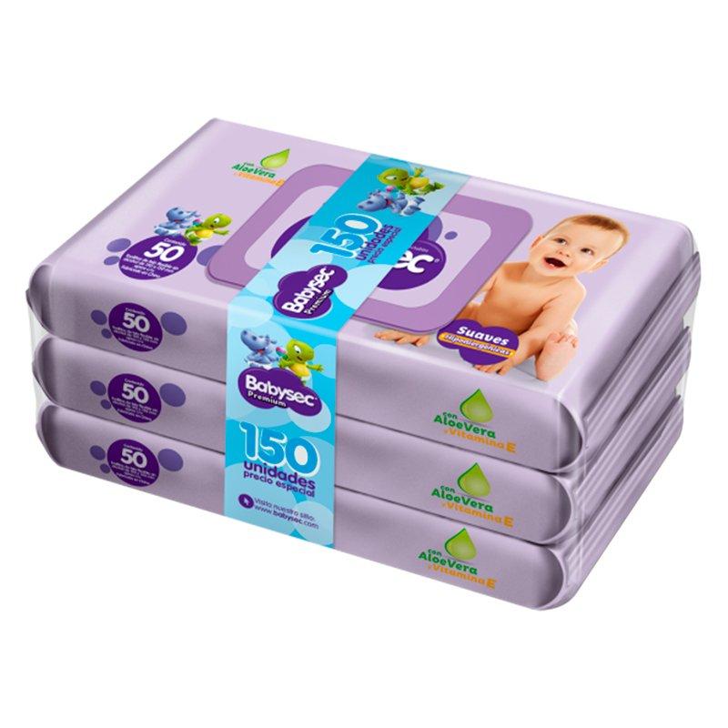 Babysec Toallas Premium Flow Pack X 150