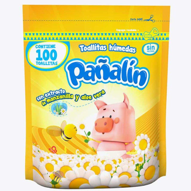 Pañalín Toallitas Húmedas Manzanilla X 100