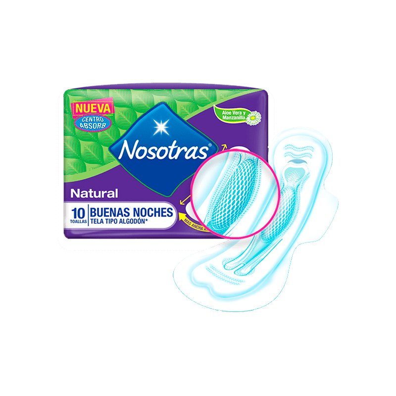 Toallas Higiénicas Buenas Noches Natural X10