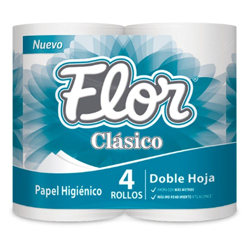 Papel Higiénico Flor Clasico x4